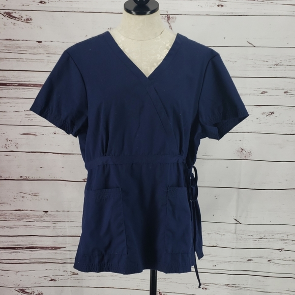 koi Tops - Koi By Kathy Peterson Navy Blue Scrub Top
